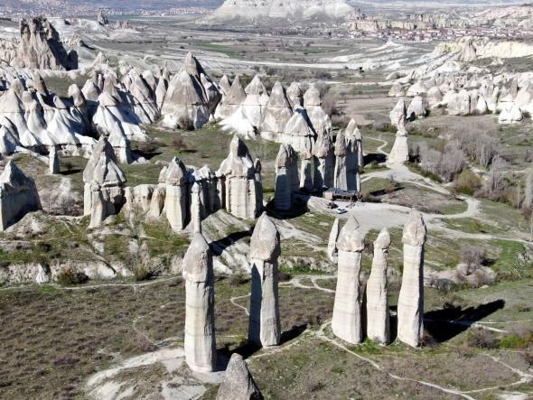 Hayalet şehir Kapadokya havadan görüntülendi