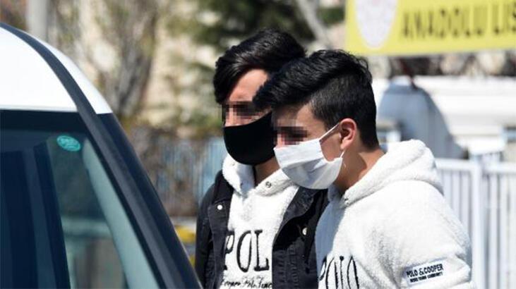Takside yakalanan 20 yaşından küçük 2 kişiye para cezası