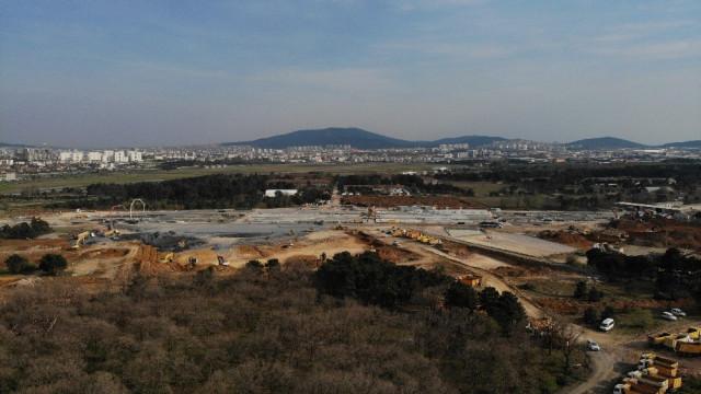 Sancaktepe'deki hastane inşaatında 9. gün! Son durum havadan görüntülendi - Resim: 3