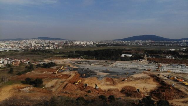 Sancaktepe'deki hastane inşaatında 9. gün! Son durum havadan görüntülendi - Resim: 4