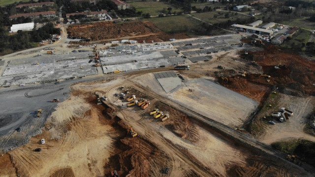 Sancaktepe'deki hastane inşaatında 9. gün! Son durum havadan görüntülendi