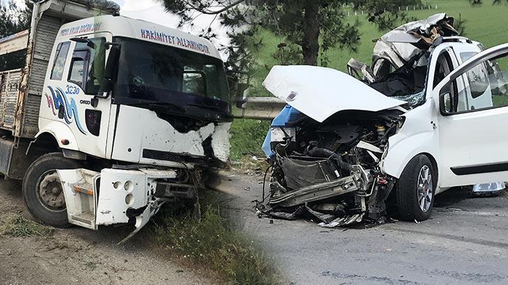 Baba ile oğlu aynı kazada hayatını kaybetti