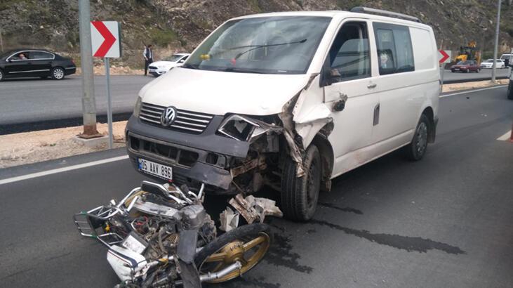 Amasya'da yeni aldığı motosikletiyle kazada öldü !