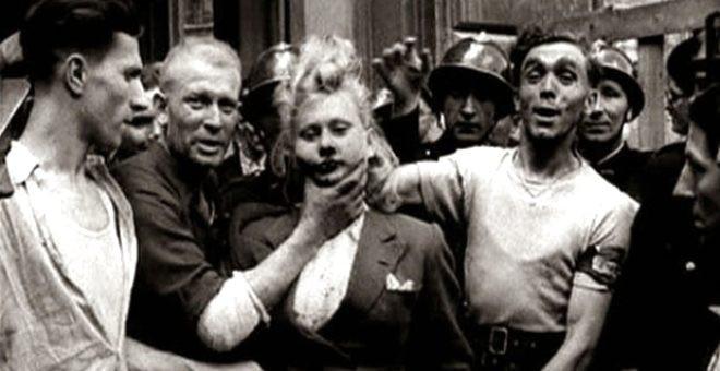 Alman askerlerle cinsel ilişkiye giren kadınların saçları kazıtıldı - Resim: 2