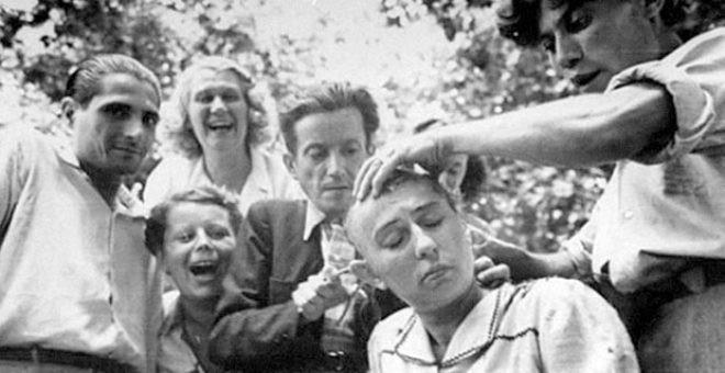 Alman askerlerle cinsel ilişkiye giren kadınların saçları kazıtıldı - Resim: 4