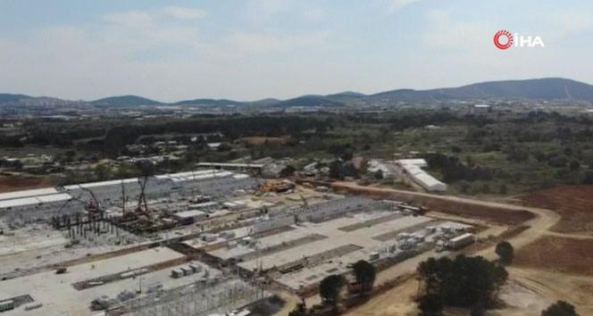 Sancaktepe'deki salgın hastanesi yükseliyor