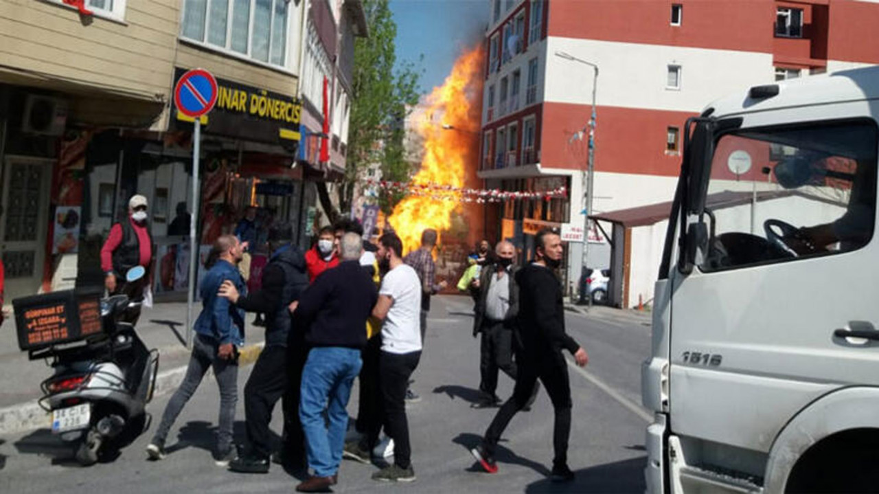 İstanbul'da korkutan patlama! Alevler korku saçtı!