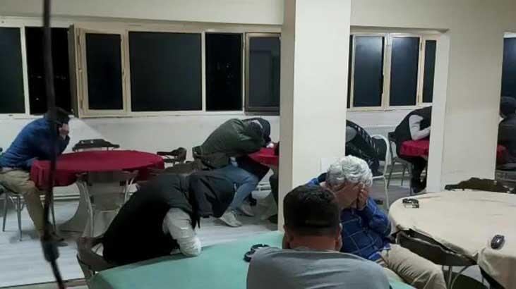Yasa dışı bahis baskını ! 17 kişiye 766 bin lira ceza kesildi