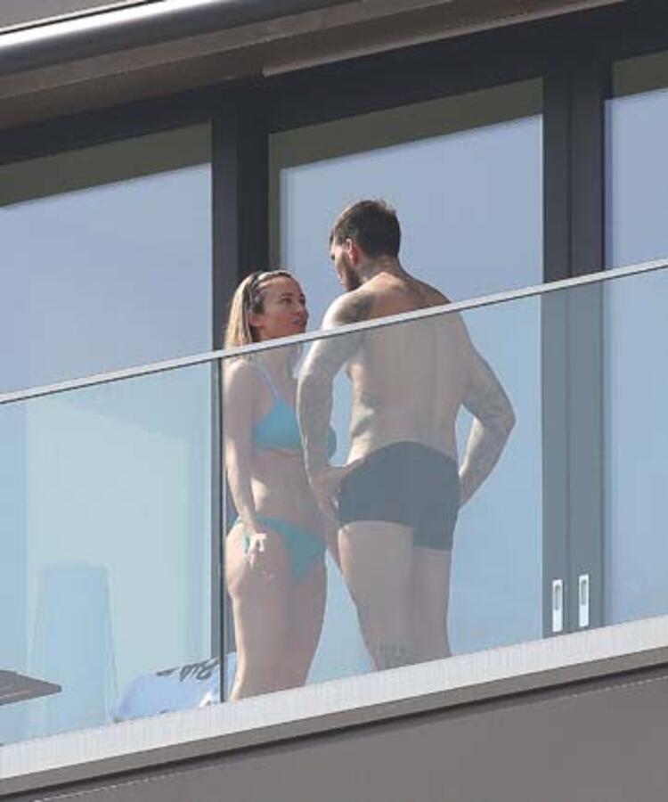 Güzel spikerinin balkon karantinası olay oldu