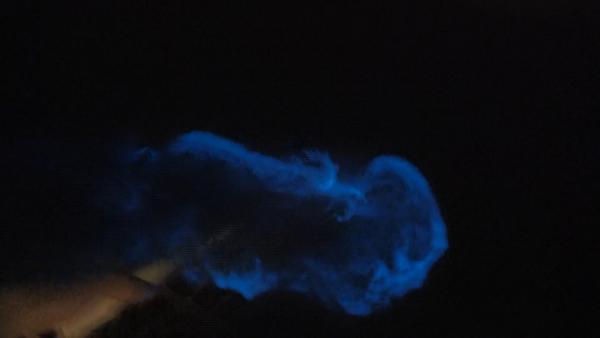 Büyükçekmece sahilinde ''mavi ışık'' heyecanı! Görenler şaşkına döndü