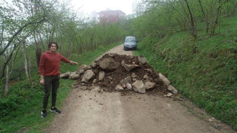 Ordu ile Giresun arasındaki yol böyle kapatıldı