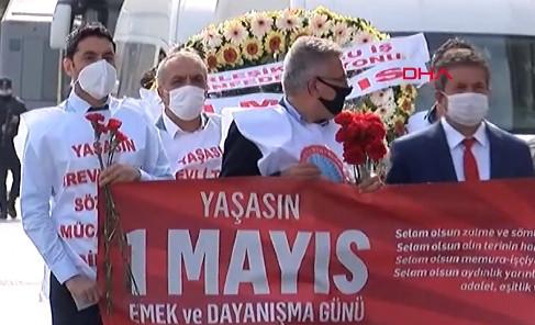 Sendikalar Taksim Meydanı'na çıktı