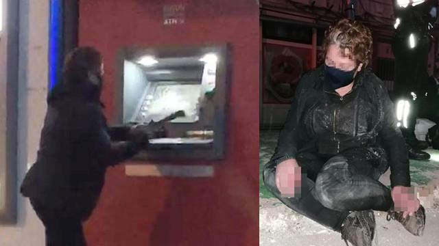 Babasına kızıp ATM'leri parçalayan kadın suç makinesi çıktı!