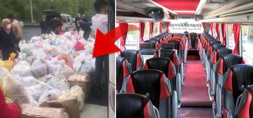 Yolcu bulamayan otobüsler yük taşımıya başladı