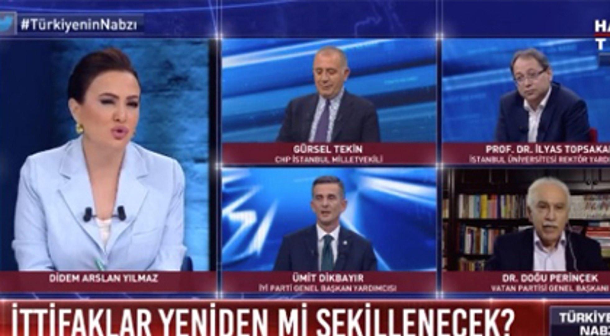 Doğu Perinçek canlı yayında Öcalan ile fotoğrafları gösterilince çıldırdı!