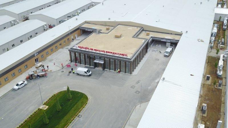 Atatürk Havalimanı'nda inşa edilen pandemi hastanesinde sona yaklaşıldı!