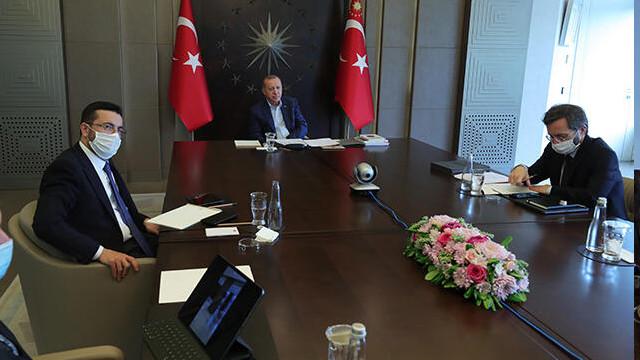 Cumhurbaşkanı Erdoğan'dan videokonferans ile bayramlaşma