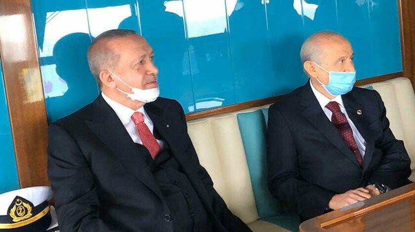 Başkan Erdoğan ve MHP Genel Başkanı Devlet Bahçeli, Demokrasi ve Özgürlükler Adası'nı gezdi