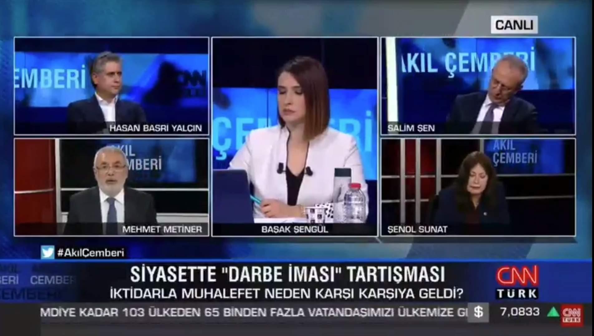 CNN Türk canlı yayınında ''güçlü ekonomi'' mesajı verilirken...