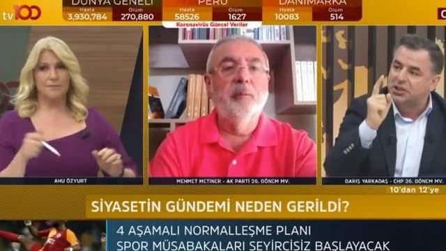 AK Partili Mehmet Metiner canlı yayında yanıt veremedi!