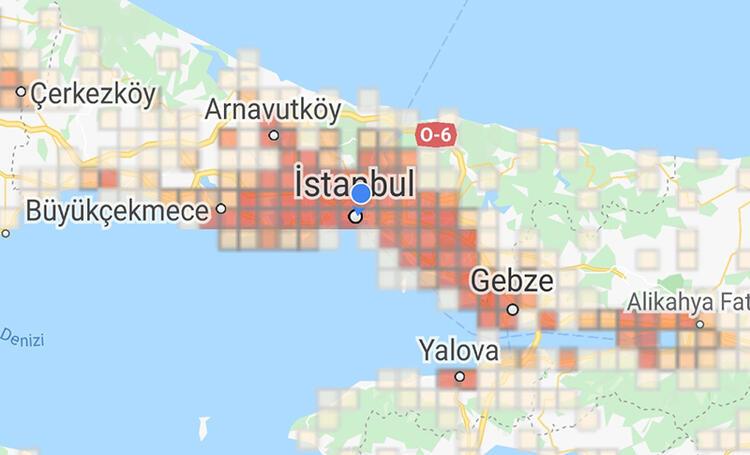 İstanbul'un koronavirüs haritası güncellendi! İşte en riskli ilçeler