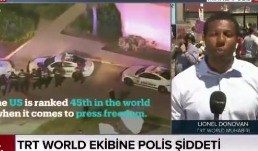 TRT muhabiri ABD'deki protestolarda vuruldu