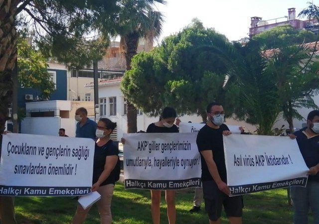 ÖSYM önünde ''Asıl virüs AKP iktidarıdır'' protestosu