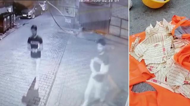 Üsküdar'da Kuran-ı Kerim'e çirkin saldırı!