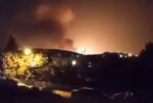 İran'da korkutan patlama, kameralara böyle yansıdı!