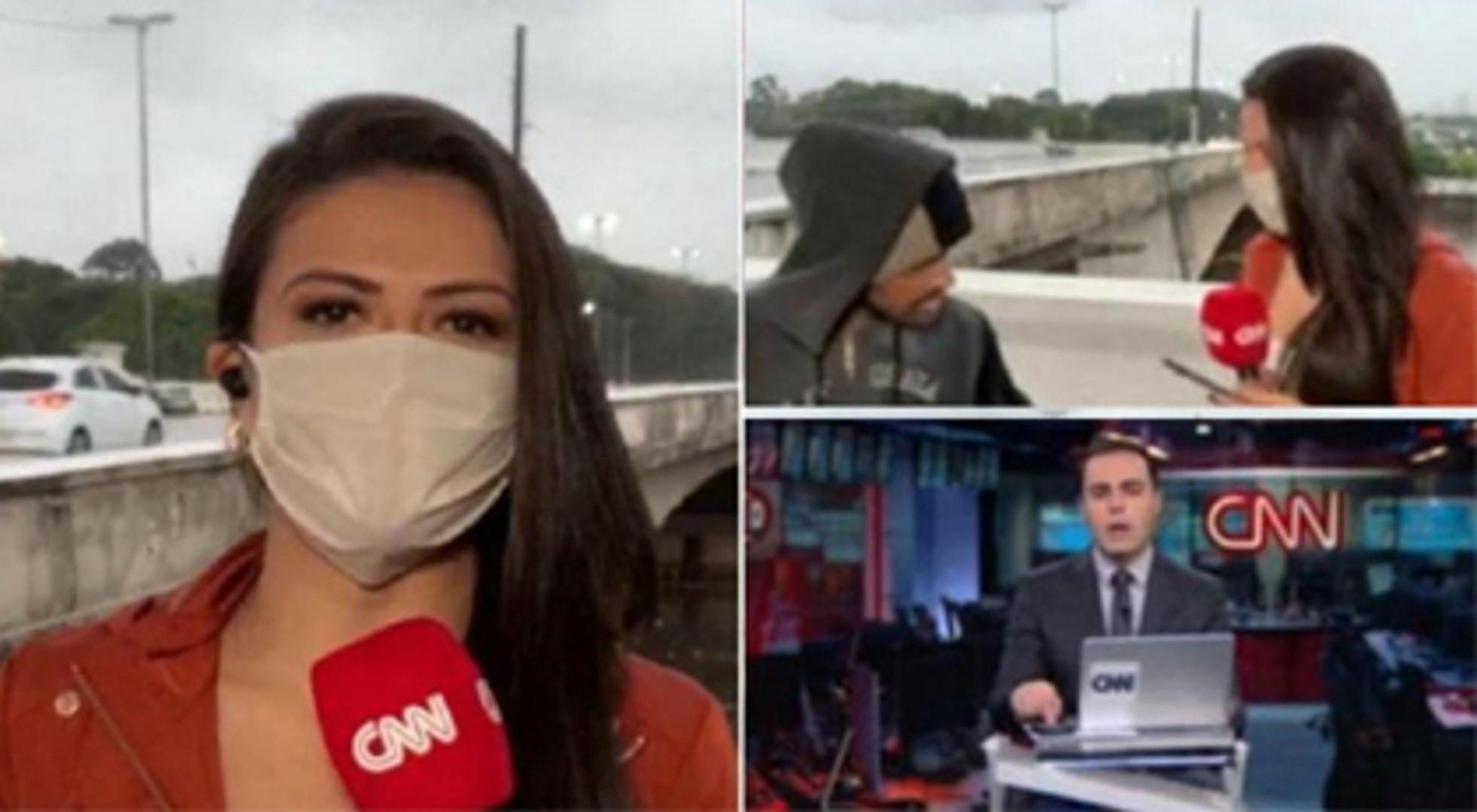 Muhabir canlı yayında soyuldu! O anlar kamerada
