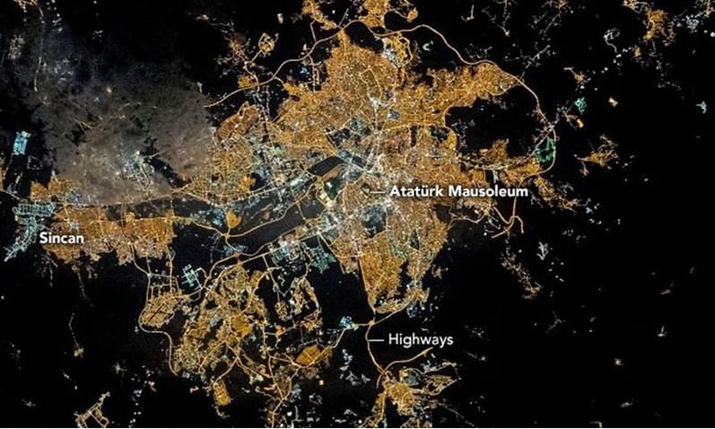 Ankara'yı hiç böyle görmediniz! NASA paylaştı