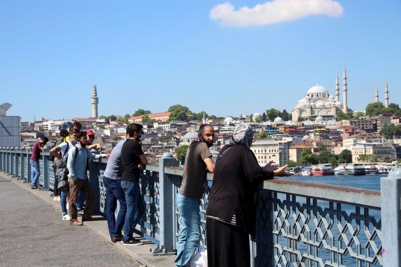 Galata Köprüsü'nde ceset izleme yoğunluğu