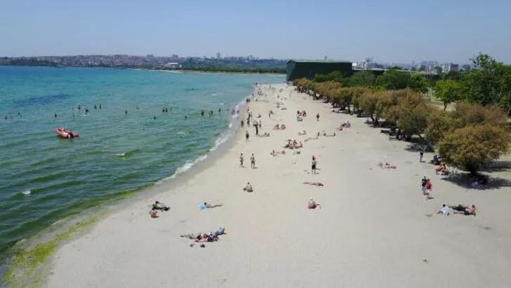 Plajlarda sosyal mesafeyi hiçe saydılar! ''Kum bizi korur'' - Resim: 2