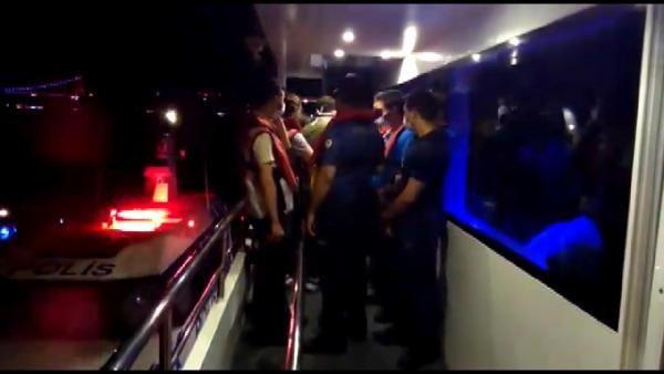 İstanbul'da tekne partisine koronavirüs baskını