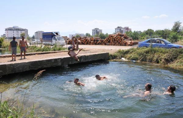 Antalya'da su yılanıyla korkutan şov