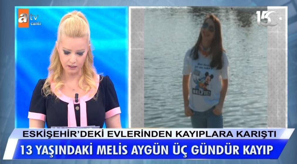 Müge Anlı 13 yaşındaki kayıp Melis Aygün'ü arıyor!