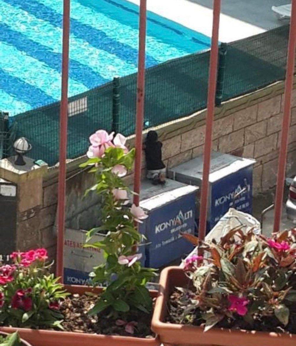 Havuzdaki yaşıtlarını izleyen kağıt toplayıcı çocuğa sürpriz - Resim: 2