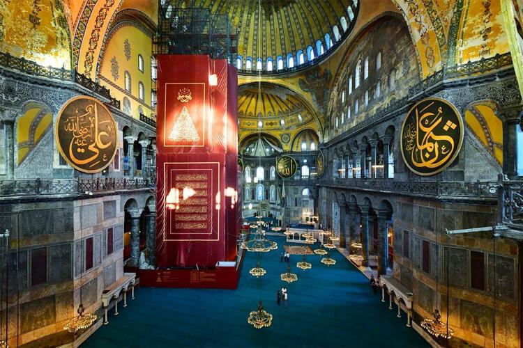 Ayasofya Camii'nin içinden fotoğraflar