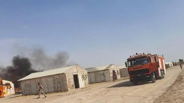 Bağdat'ta askeri üsse saldırı
