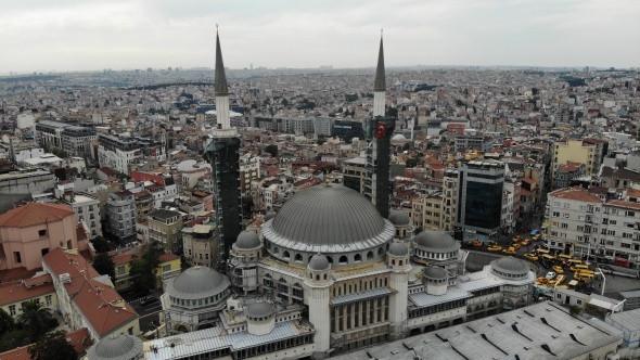 Taksim Camii inşaatında son durum... Şerefesi göründü - Resim: 2