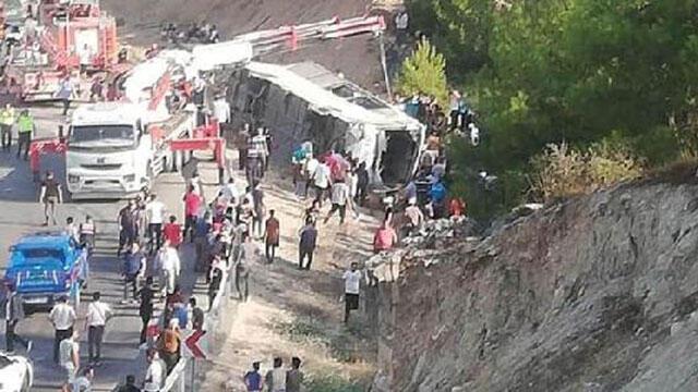 Mersin'de otobüs kazasında yaralanan 17 asker taburcu oldu