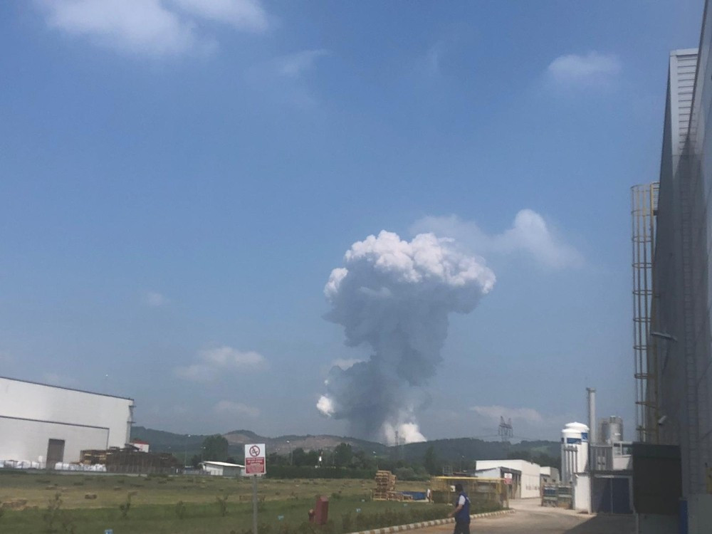 Havai fişek fabrikasındaki patlamadan yeni görüntüler