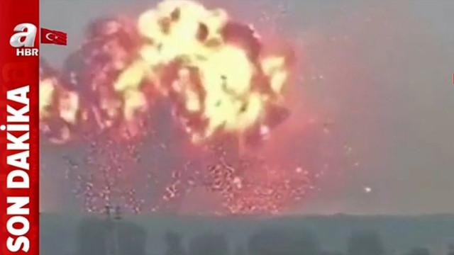 Havai fişek fabrikasında patlama anı kamerada!
