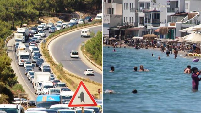 Bodrum eski günlerine döndü: Hem sahiller hem yollar doldu