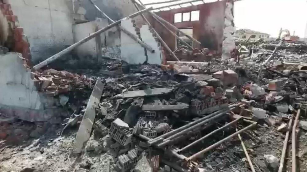 Sakarya'daki patlamayla ilgili yeni görüntüler ortaya çıktı