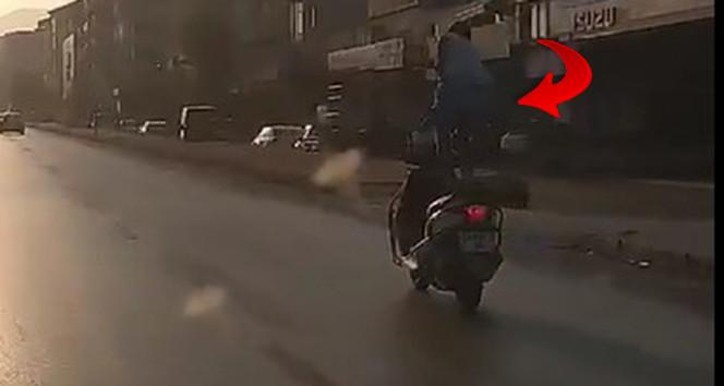 İki tekerlekli trafik canavarı polise yakalandı