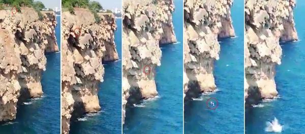 Antalya'da iddia için 40 metreden denize atlayan genç öldü!