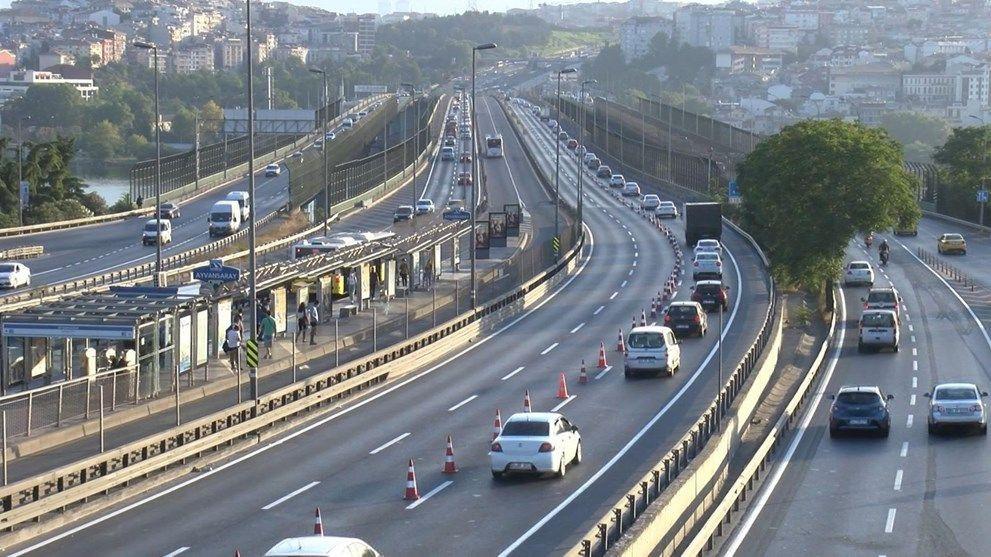 Haliç Köprüsü'ndeki 2'inci etap çalışmaları trafiği kilitledi