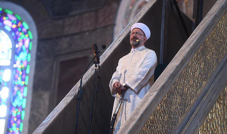 Erbaş Ayasofya'da minbere neden kılıçla çıktığını açıkladı