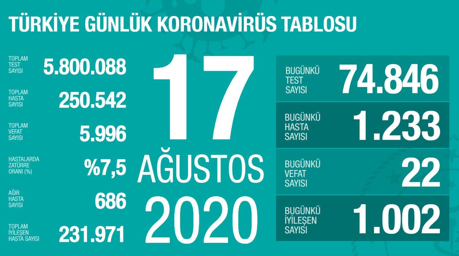 Hasta sayısı 250 bini geçti! İşte son 24 saatin koronavirüs bilançosu